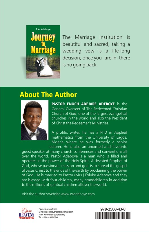 Journey to MArriage BACK
