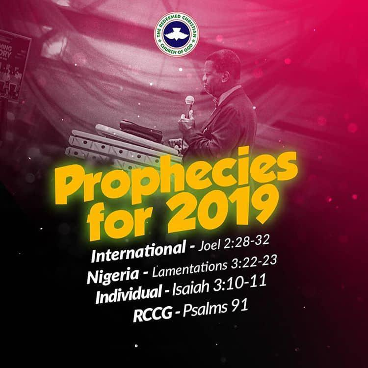 2019 PROPHECIES BY PASTOR E A  ADEBOYE | The Official