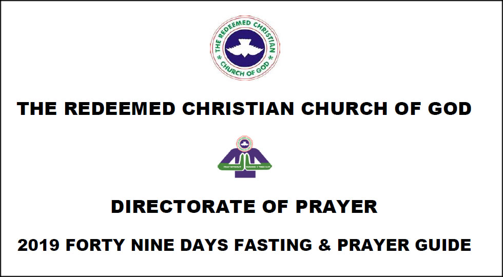 FORTY-NINE DAYS RCCG FASTING AND PRAYER GUIDE | The Official Website